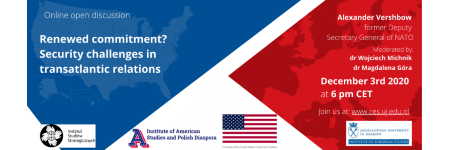 """Renewed commitment? Security challenges in transatlantic relations"" - invite for an open discussion"